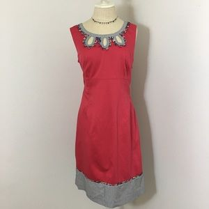 Boden red sun dress size 10